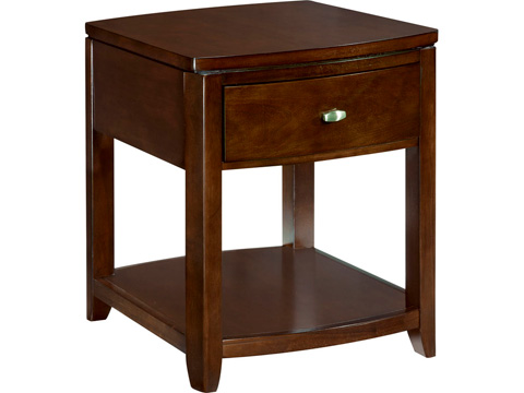 Image of Square End Table with Storage Shelf