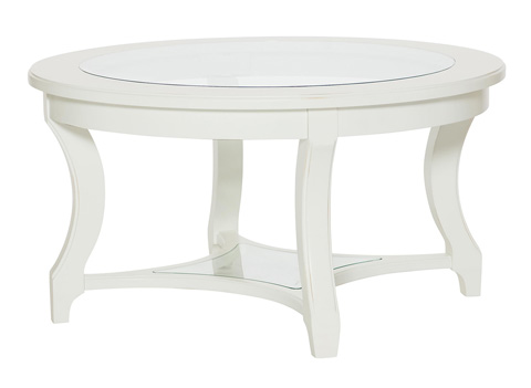 American Drew - Round Glass Top Cocktail Table - 416-913