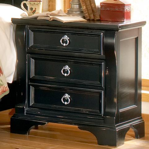 American Woodcrafters - Heirloom Black Distressed Nightstand - 2900-430