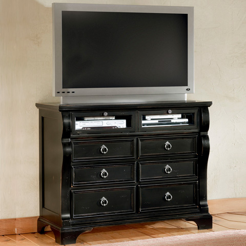 Image of Heirloom Black Media Cabinet