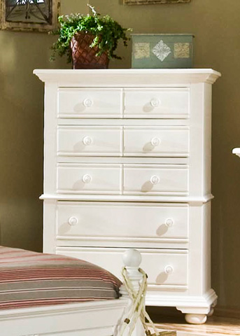 Image of Cottage Traditions White 5 Drawer Chest