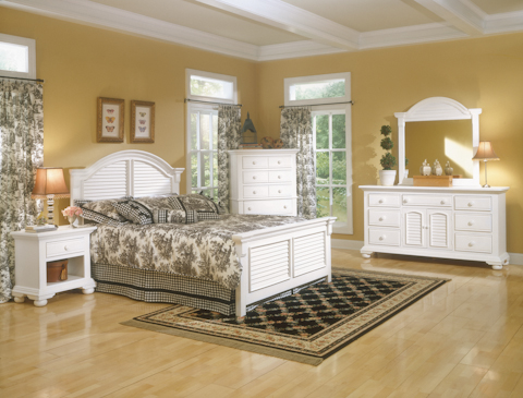 Image of Cottage Traditions White Panel Bed