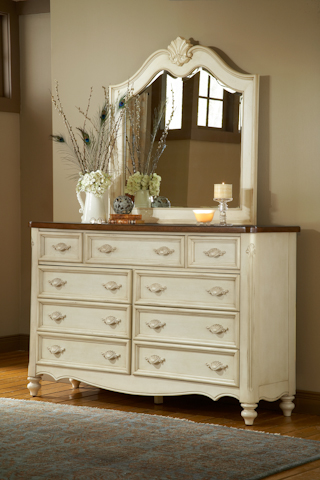 American Woodcrafters - Chateau Dresser with Mirror - 3501-290/040