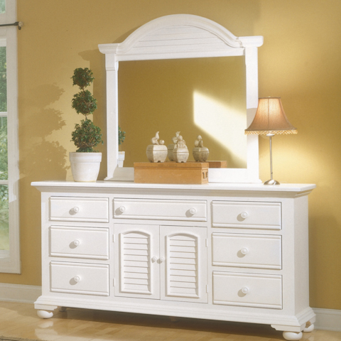 Image of Triple Dresser with Dressing Mirror