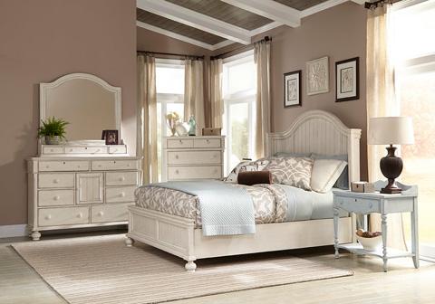 American Woodcrafters - Queen Panel Bed - 3710-951/3710-953/3710-880