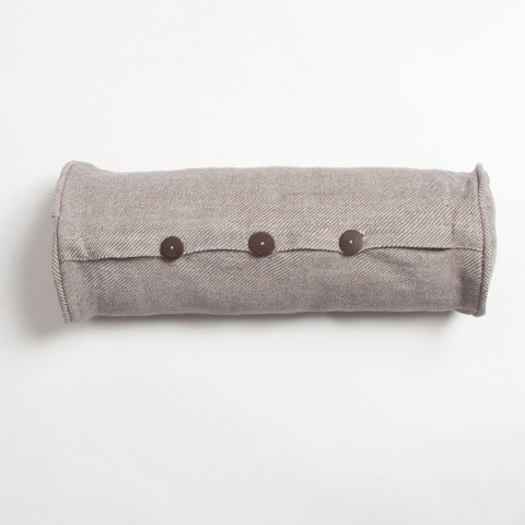 Image of Iven Bolster Pillow in Taupe