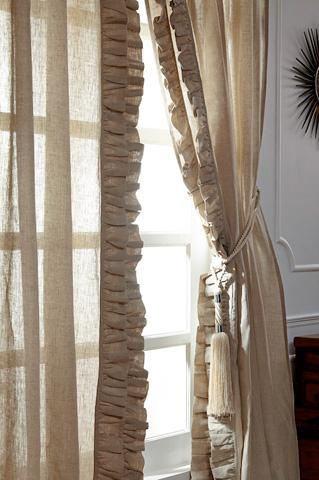 Image of Basillo Natural Linen Curtains