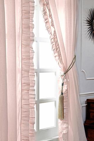 Image of Basillo Petal Pink Linen Curtains
