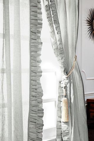 Image of Basillo Seaglass Linen Curtains