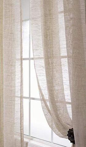 Image of Damara Ivory Linen Curtains