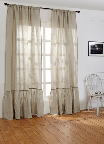 Image of Caprice Natural Linen Curtains