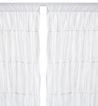 Image of Rachel White Cotton Voile Curtain
