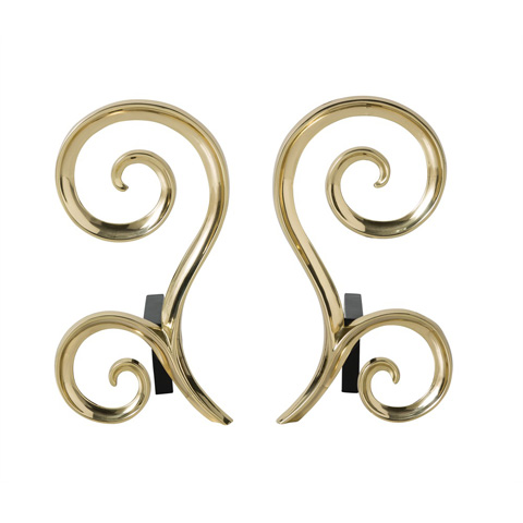 Arteriors Imports Trading Co. - Libby Andirons-Set of 2 - 6011