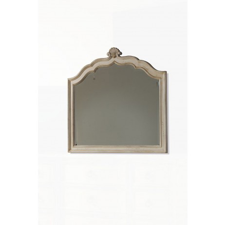 Image of Gentley Sloping Dresser Mirror with Shell Accent