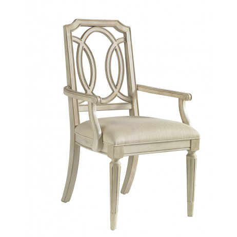 Image of Fretwork Arm Chair with Upholstered Seat