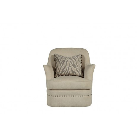 Image of Amanda Ivory Swivel Chair