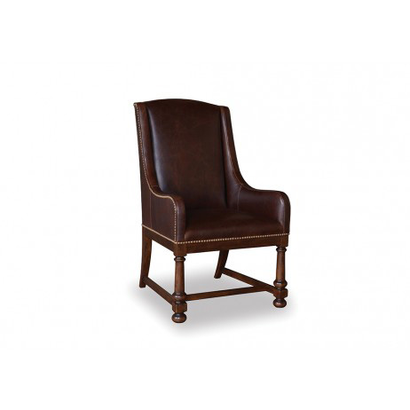 Image of Whiskey Oak Leather Arm Chair