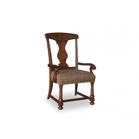 A.R.T. Furniture - Whiskey Oak Splat-Back Arm Chair - 205205-2304