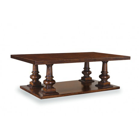 Image of Whiskey Oak Pedestal Cocktail Table