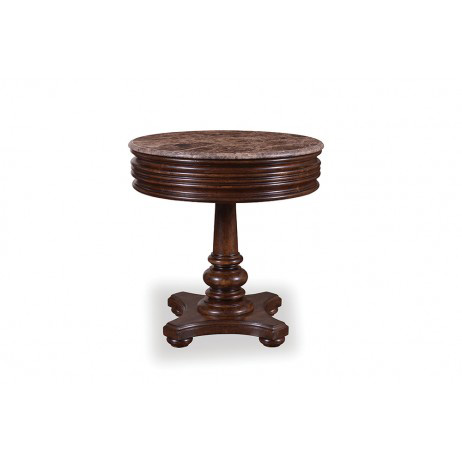 Image of Whiskey Oak Round Side Table