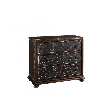 Image of Whiskey Oak Leather Hall Chest