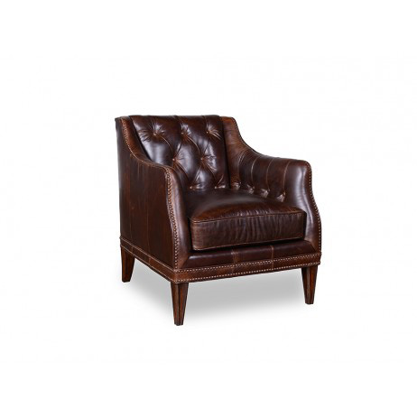 Image of Kennedy Walnut Leather Chair