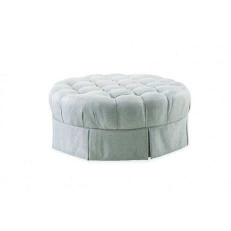 Image of Ava Grey Tufted Ottoman