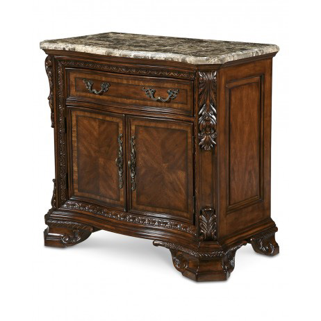 Image of Stone Top Door Nightstand
