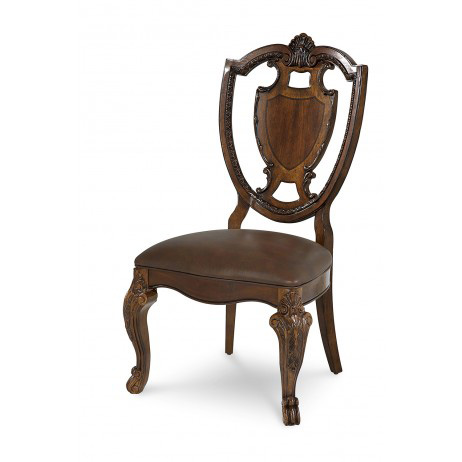 Image of Shield Back Side Chair with Leather Seat