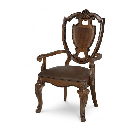 Image of Shield Back Arm Chair with Leather Seat