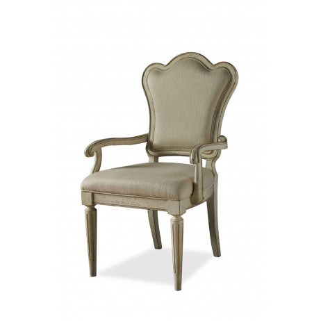 Image of Upholstered Back Arm Chair in Linen