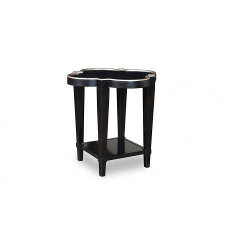 Image of Shaped End Table in Ebony