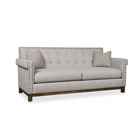 Image of Skirted Wing Back Sofa