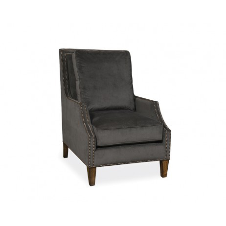 Image of Wood Trim Accent Chair