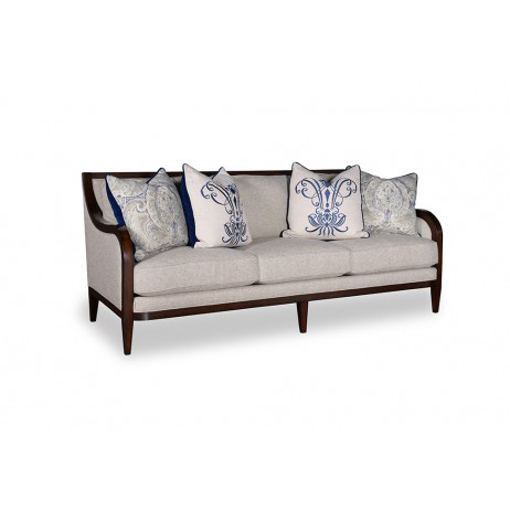 Image of Three Seat Sofa with Tapered Legs