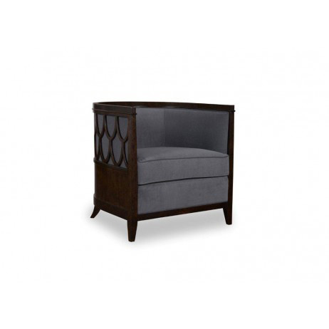 Image of Barrel Back Chair with Fretwork