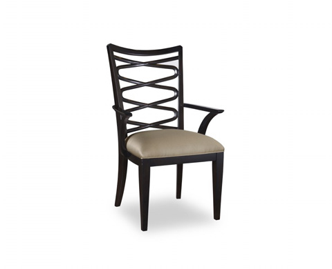 Image of Ribbon Back Arm Chair in Ebony
