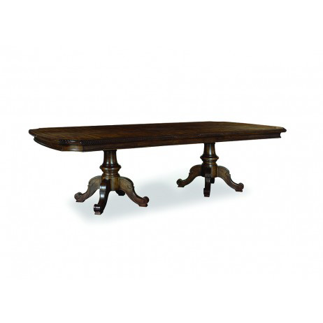 A.R.T. Furniture - Double Pedestal Dining Table in Walnut - 213221-1812BS/213221-1812TP