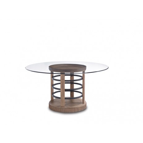 Image of Round Glass Dining Table
