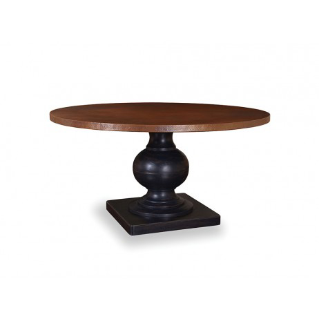 Image of Round Dining Table in Weathered Black