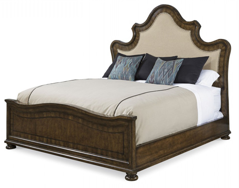 Image of King Upholstered Panel Bed
