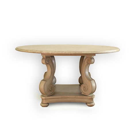 Image of Extending Round to Oval Table