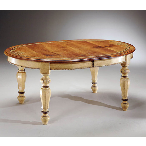 Image of Oval Table with Central Extensions