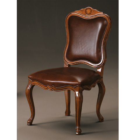 Image of Side Chair With Leather