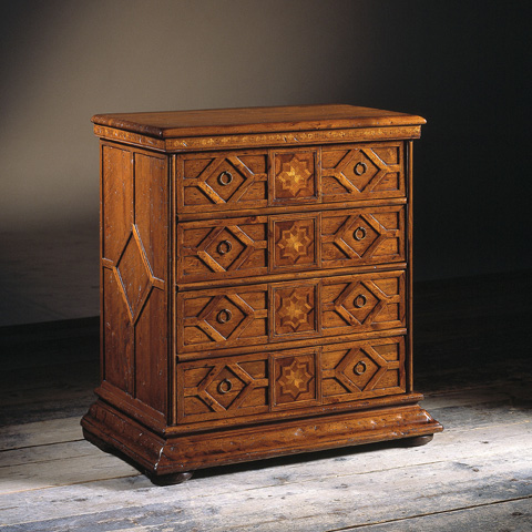Image of Four Drawers Nightstand