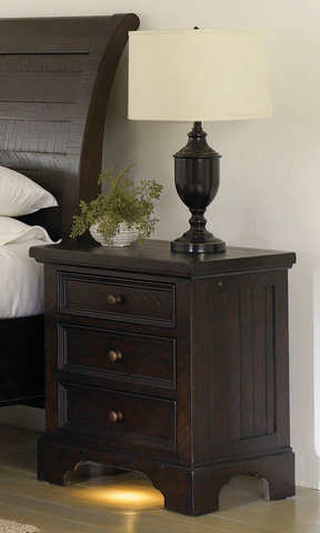 Aspenhome - 3 Drawer Nightstand with Built-in Charging Station - I70-450-DK