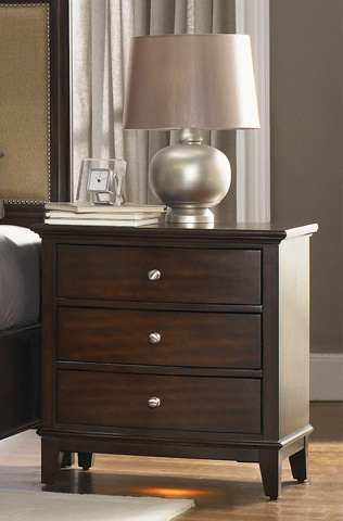 Image of 3 Drawer Nightstand with Built-in Charging Station