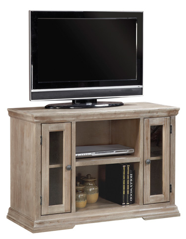 Image of Two Door TV Console with Storage Shelf