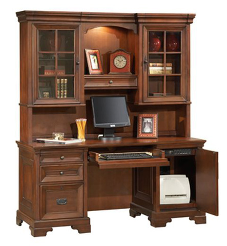 Aspenhome - Credenza Desk with Hutch - I40-316/317-3
