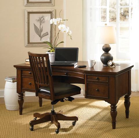 Image of Curve Pedestal Desk